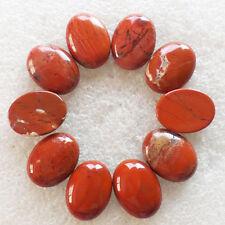 10Pcs Red Jasper Oval CAB CABOCHON 20x15x5mm H-266