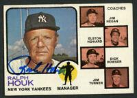 Ralph Houk #116signed autograph auto 1973 Topps Baseball Card JSA Sticker