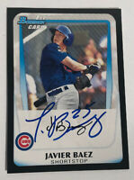 2011 Bowman JAVIER BAEZ Autographed Rookie Card Chicago Cubs ALL STAR