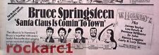 Bruce SPRINGSTEEN Santa Claus is coming to Town 1981 UK Press ADVERT 12x4""