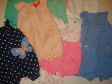 Lot of 10 Pieces Carter's Baby Girl Onesies / 3 mos Clothes -Excellent Condition