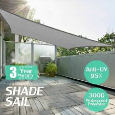 Rectangle Awning Sun Shading Nets Waterproof Polyester Outdoor Sail Sunshades