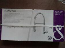Cooke & Lewis Bilbrough Chrome Kitchen Side lever spring neck Mixer tap BNIB