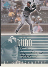 Adam Dunn 2002 UD SP Chirography autograph auto card AD /349