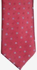 "Sears Men's Polyester Vintage Tie 57"" X 3.75"" Burgundy w/ multi-color Geometric"