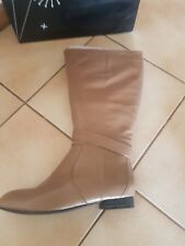 BRAND NEW WOMENS LADIES TS 14 + STEVIE LEATHER BOOTS SZ 39 SZ 8 CAMEL TAN LEATHE