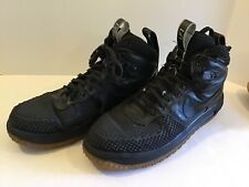 B62 $160 Nike Lunar Force 1 Duckboot Black Size 14 Men's Shoes 805899-003