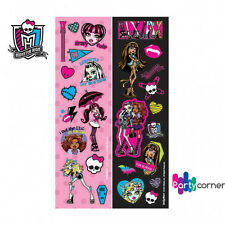 MONSTER HIGH PARTY SUPPLIES 8 STRIPS OF STICKERS GENUINE LICENSED