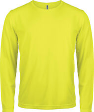 t shirt lycra jaune fluo taille L