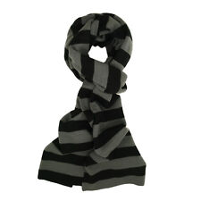 Premium Soft Knit Striped Bar Scarf - Diff Colors (Red Gray Blue Yellow Black)