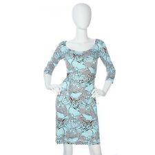PRADA Floral Print Silk Jersey Dress, Size 38 4 - EUC
