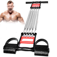 5-Spring Chest Expander Pull Stretcher Home Gym Muscle Training Exerciser New