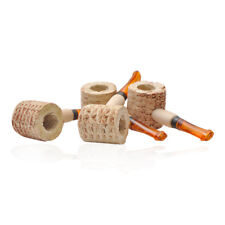 5 Pcs Corn Cob Smoking Tobacco Pipe Enchase Cigarettes Cigar Pipes Wood Handle