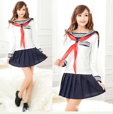 Japanese Style Sleeves Sweet School Girl Cosplay Fancy Dress, Uniform, Size S-M