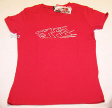 Holden Racing Team HRT Ladies Red Printed Short Sleeve T Shirt Size 16 New