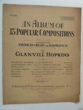 2stave American organo Harmonium glanvill Hopkins 13 composizioni popolari