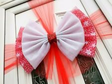 Christmas Door Bow Kit* Red Holly Snowflake * Easy to fit *Festive - Xmas