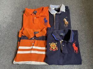 Bundle Of Boys Ralph Lauren Polo Shirts Age 6 & 7 Years
