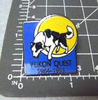 1993 Lapel Pin Yukon Quest Dog Sled Race Whitehorse yukon to Fairbanks Alaska
