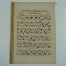MENDELSSOHN two studies & fantasia F# minor , antique PIANISTA EDITION
