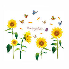 Sunflower PVC Wall Stickers Mural Room Background Decor DIY Art Decal 60*90cm