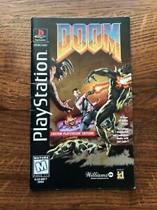 Doom Long Box Longbox Sony Playstation PS1 Manual Only