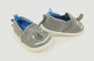 new BABY SHARK gray SLIP ON shoes toddler sz 4 infant 4k