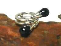 BLACK  ONYX   Sterling  Silver  925  Gemstone  RING  -  Size:  M