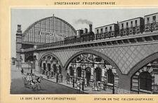 FOTO 14x9 CM Stazione di città FRIEDRICHSTRASSE BERLINO (AK0912)