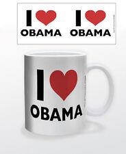 I Heart Obama 11 Oz Coffee Mug Politics Usa Democrat Best President Supporter!