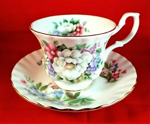 ROYAL ALBERT Cup & Saucer SHERBORNE BOURTON China SUMMERTIME SERIES Vintage