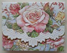Blank inside 10 Note Card & Envelope Set Embossed garden theme