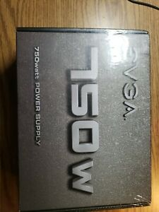 eVGA 100-N1-0750-L1 Power Supply 750W +12V 120mm Sleeve Bearing Fan ATX Cable