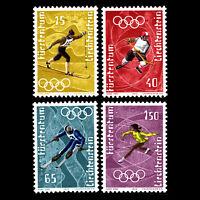 Liechtenstein 1971 - Winter Olympic Games - Sapporo 1972, Japan - Sc 492/5 MNH