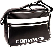 Converse Flat Zip Reporter Bag (Black)