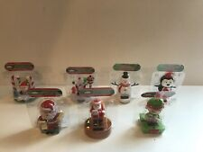 Solar Powered Bobble Heads Toys Christmas Santa Elf Snowman YOU PICK Lot Of 3