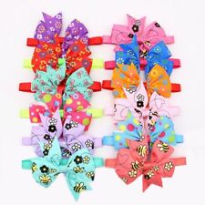 60pcs Flower Bees Pet Dog Cat Bowties Adjustable Bowknot Grooming Accessories