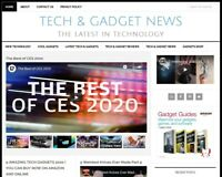NEW DESIGN * TECH & GADGET NEWS * blog website business for sale w/ AUTO CONTENT