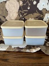 16 Oz Tupperware Square Rounds Freezer Storage - 4 containers with lids