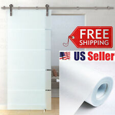 Home / Office Window Glass Privacy White Frosted EASY DIY Vinyl Wrap Film Sheet