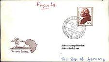 Dt. Schiffspost Hapag Lloyd Schiff MS EUROPA 1982 Gala Jungfernreise Afrika