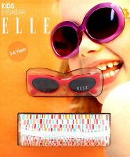 ELLE Girls SUNGLASSES Cat 3 Filter Full UV Protection RED C/W CASE Kids 3-6 Yrs