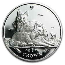 2003 Isle of Man 1 oz Silver Balinese Cats Proof SKU #80894