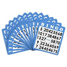 15 Blue Bingo Cards with Jumbo Numbers - Australia only