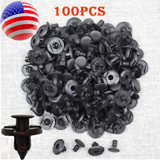 100pcs Bumper Hood Fender Splash Guard Retainer Push Clips Fastener Rivets 10mm
