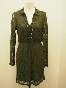 Boohoo Green Lace Dress Size 12