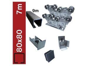 Bodenführung-Set Heavy, 80x80mm  Laufwerk freitragend, für 7m Schiebetor