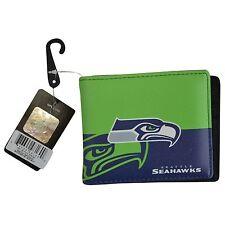 Brand New NFL Seattle Seahawks Men Women Synthetic Leather Bi-Fold Wallet
