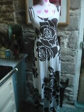 Jane Norman ladies Roses maxi dress Ideal holidays as non crease 12 stunning