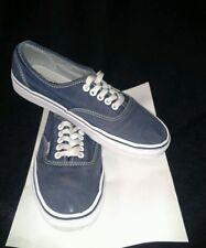 Men Canvas Vans Off the Wall Daps Trainer Skate Shoes Size UK 7 Blue & White